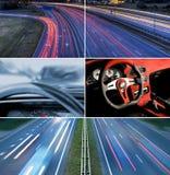vitesse d'omnibus de collage photo libre de droits