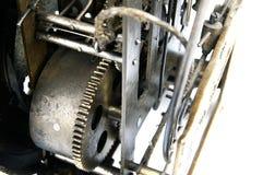 Vitesse dans le mécanisme de la vieille horloge Images libres de droits