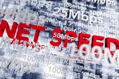 Vitesse de bande large d'Internet Image stock