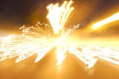 Vitesse de la lumière Photo libre de droits
