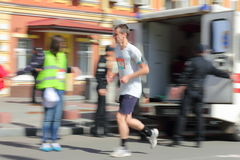 Vitesse de marathon Photos stock