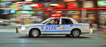 Vitesse de NYPD Image stock