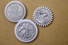 Vitesse de pièces de monnaie images stock