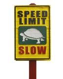 vitesse de signe en bois images stock