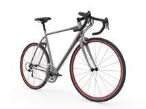 Vitesse emballant la bicyclette d'isolement sur le fond blanc Images stock