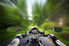 Vitesse exessive de moto Images libres de droits