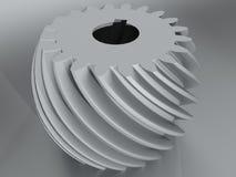 Vitesse hélicoïdale convexe avec la denture spirale de profil Photo libre de droits