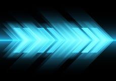 Vitesse légère bleue abstraite de flèche sur le vecteur futuriste moderne de fond de technologie de conception noire illustration stock