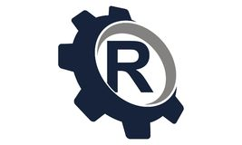 Vitesse Logo Letter R Photographie stock libre de droits