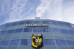 Vitesse logo on stadium gelredome in the dutch town of arnhem Stock Photography