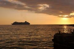 Vitesse normale de coucher du soleil Images libres de droits