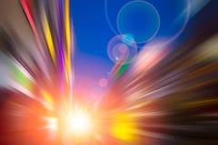 Vitesse rapide mobile de mouvement coloré de tache floue Image libre de droits