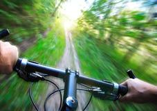 Vitesse sur le vélo de montagne Image stock