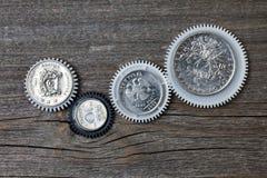 Vitesses avec des pièces de monnaie à l'intérieur photographie stock
