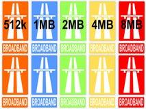 Vitesses colorées de téléchargement Photographie stock libre de droits
