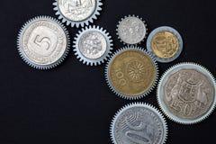 Vitesses de pièces de monnaie photos libres de droits