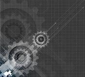 Vitesses de technologie de machine rétro bacground de mécanisme de roue dentée Image stock