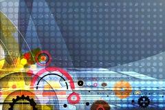 Vitesses de technologie de machine rétro bacground de mécanisme de roue dentée Photos stock