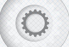 Vitesses de technologie de machine rétro bacground de mécanisme de roue dentée Photographie stock