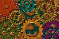 Vitesses en bois sur le fond en bois de texture de grain Photos libres de droits
