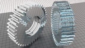 Vitesses - roues dentées Images stock