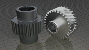 Vitesses - roues dentées Image stock