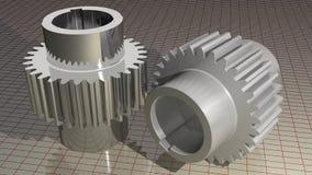 Vitesses - roues dentées illustration de vecteur