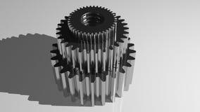 Vitesses - roues dentées Photo stock