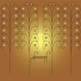 Vitevaty rocznika antykwarski czerń z złotem Fotografia Royalty Free