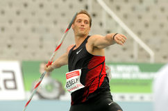 Vitezslav Vesely of Czech Republic. During Javelin Throw Event of Barcelona Athletics meeting at the Olympic Stadium on July 22, 2011 in Barcelona, Spain Stock Photography