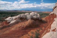 Vitfack, nationell monument för cinnoberfärgklippor, Arizona Arkivbild