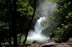 Vitgar-Wasserfall slovenija Stockbild