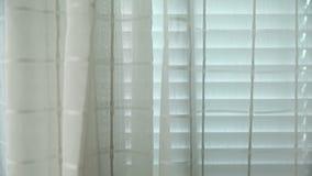 Vitgardiner och fönster arkivfilmer