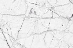 Vitgrå färger marmorerar textur med subtila gråa åder Royaltyfria Bilder