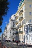 Vithus på invallningen i Nice Fotografering för Bildbyråer