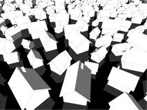 Vithus på svartjordning Royaltyfria Bilder