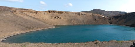 Viti crater in Iceland Royalty Free Stock Image