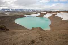 Viti crater at Krafla geothermal area, Iceland Stock Image