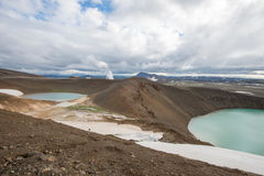 Viti crater at Krafla geothermal area, Iceland Royalty Free Stock Image