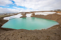 Viti crater at Krafla geothermal area, Iceland Royalty Free Stock Images