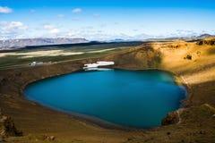 Viti crater at Krafla. Viti crater lake at Krafla geothermal area, Iceland Royalty Free Stock Photo