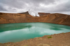Viti crater in Krafla, North Iceland Royalty Free Stock Photos