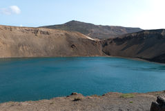 Viti crater lake in iceland Royalty Free Stock Image