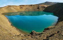 Viti crater lake Royalty Free Stock Image