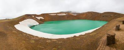 Viti krater Iceland Obraz Royalty Free