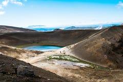 Viti krater på Krafla Arkivbilder