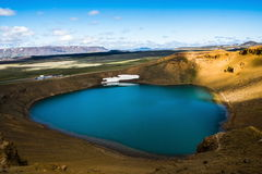 Viti krater på Krafla Royaltyfri Foto