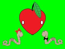 Viti senza fine e una mela Fotografia Stock