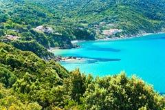 Viticcio, Elba海岛。 库存图片