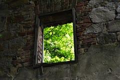 Vitin. Abandoned village Vitin near Aussig (Usti nad Labem), Czech Republic Royalty Free Stock Image